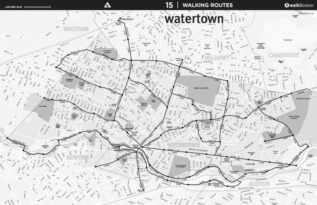 Watertown Walking Map – WalkBoston