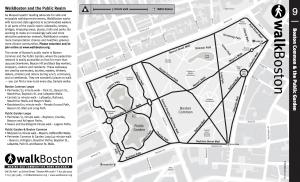 Boston Boston Common And Public Garden Map WalkBoston - Boston common map